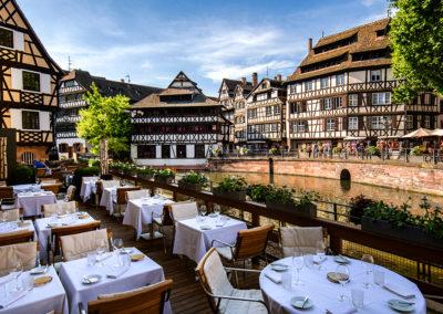 Terrasse Restaurant Le Pont Tournant